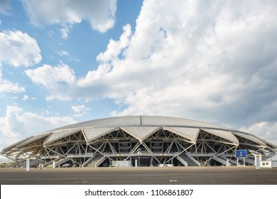 Russia, Samara - 05 17 2018: football stadium for world cup 2018 in Samara, Russia