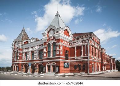 Russia. Samara city drama theater. Summer 2017.