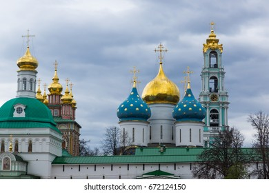 Russia, Sergiev Posad, Trinity Lavra of St. Sergius, spring 2017 Churches and Cathedrals of the Lavra