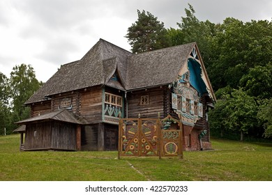 """Russia, Smolensk region - 7 July 2015: Historical and architectural complex """"Teremok"""" in village Talashkino (Flenovo)."""