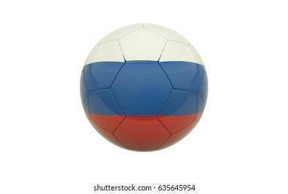 Russia soccer ball - 3D illustration