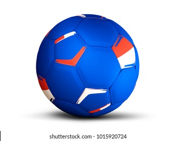 Russia soccer football russian color 3d rendering