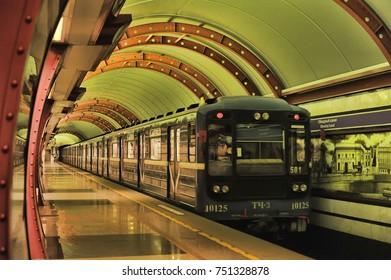 Russia, St. Petersburg, 04,11,2013 Metro Obvodny Canal, Petersburg