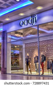 Russia, St. Petersburg 09,03,2015 Oodji brand shop in the shopping center.