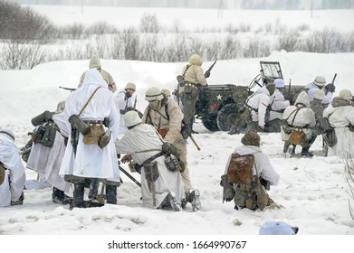 Russia, St. Petersburg, 13,05,2012 Winter reconstruction of the battles of the Second World War