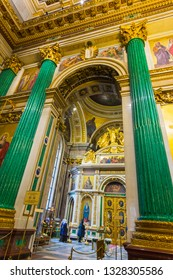 Russia, St. Petersburg, November, 12, 2117. Interior and arches of St. Isaac's Cathedral