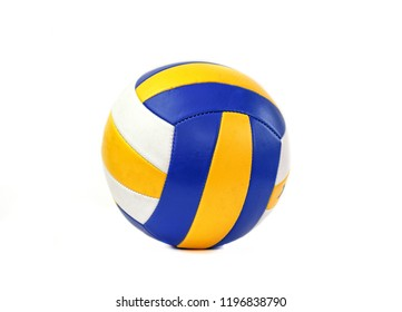 RUSSIA, STAVROPOL - SEPTEMBER 12, 2018 : Volleyball ball isolated on white background.