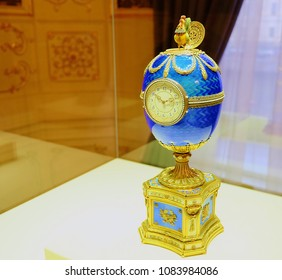 RUSSIA. St.Peterburg Shot 12/05/2017years. Photographer Andrey. The Kelch egg was created by order of Kelch in 1904 as a gift to his wife Varvara KelchBazanova for Easter.  Faberge Museum St.Peterburg
