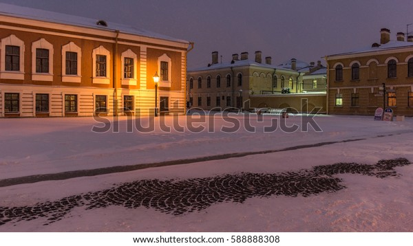 Russia, St.Petersburg - January 26, 2016: the Peter and Paul Fortress is the original citadel of St. Petersburg, Russia, founded by Peter the Great in 1703