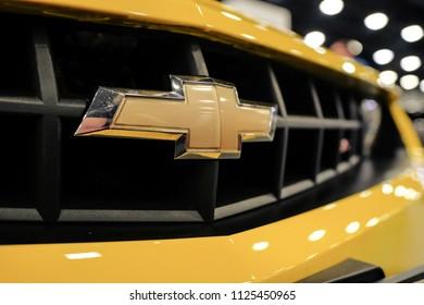 RUSSIA, ST.PETERSBURG - june 6, 2018: Chevrolet logo close up.
