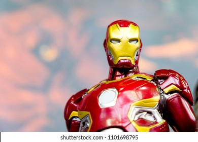 RUSSIA, ST.PETERSBURG - MAY 05, 2018: Iron Man's bust