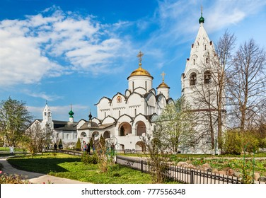 Russia, Suzdal - May 02, 2014: Pokrovsky monastery in the ancient town of Suzdal. Golden Ring of Russia.