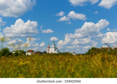 Russia. Suzdal. Summer landscape in one of the oldest Russian cities.