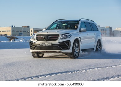 ice on mercedes benz images stock photos vectors shutterstock Mercedes Benz Filter russia togliatti december 22 2016 snow test drive of mercedes gl and
