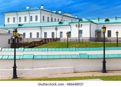 Russia. Tyumen region. Small city Tobolsk. Part of complex Tobolsk Kremlin. Unique historical plase.