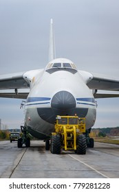 RUSSIA, ULUANOVSK-November 18, 2017, An-124-100 RA-82011  taxiing to the flight-testing station.  Ulyanovsk-Vostochny airport.