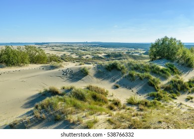 """RUSSIA, VILLAGE of """"MARINE""""- August, 2016: the Curonian spit. Dune EFA"""