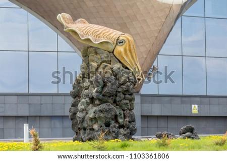 Russia Vladivostok 05262018 Sculpture Large Squid Stock Photo Edit