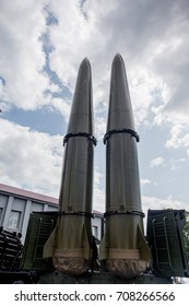 Russia, Vladivostok, 08/27/2017. Iskander - M, mobile short-range ballistic missile system, made in Russia. NATO reporting name is SS-26 Stone.