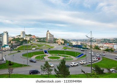Russia, Vladivostok, June 11, 2018. view of the oil in Vladivostok