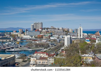Russia, Vladivostok, May 1, 2017. View of the city of Vladivostok
