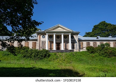Russia, Vyborg  - 27 July 2013: State Historical, Architectural and Natural Museum-Reserve Monrepos Park, main building of the estate
