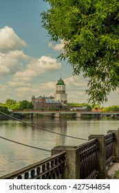Russia Vyborg city landscape summer 2016 year
