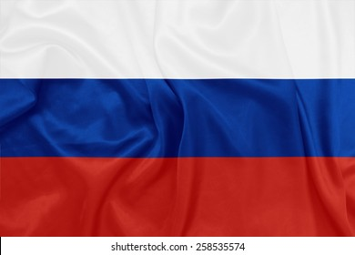 Russia - Waving national flag on silk texture