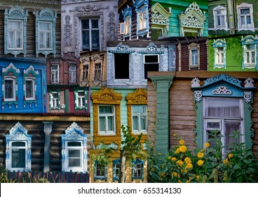 Russia - WINDOWS, JAMBEAU, DOORS of the Yaroslavl Oblast (collage).
