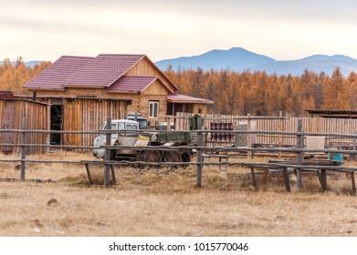 Russia. Yakutia. Oimyakon. Settlement of Tomtor.