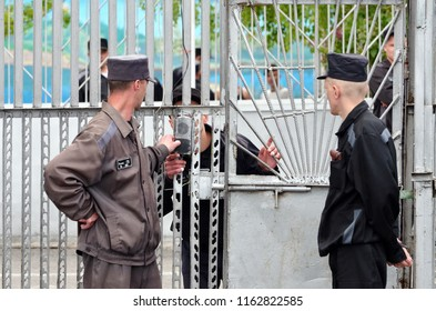 Russia,Barnaul-may 27, 2013.Imprisoned.Maximum security prison No. 3