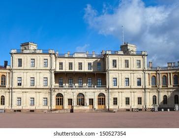 Russia,Gatchina, parade-ground before palace