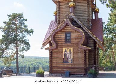 "RUSSIA-KEMEROVO, 1.08.2018 Museum-Reserve ""Tomsk Pisanitsa""."