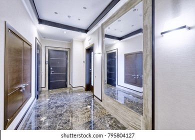 Russia,Moscow - The interior design of the hall in a new apartment.