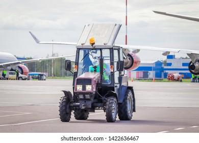 Russian airport. Public transport. Pulkovo Airport. Russia St. Petersburg Pulkovo Airport. Official spotting on August 15, 2018