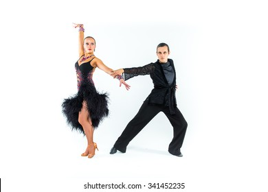 Russian ballroom dance couple
