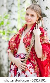 Russian beauty - the happy girl