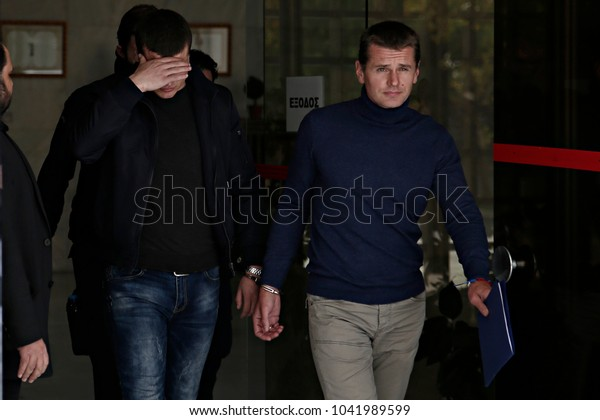 The Russian bitcoin fraud suspect Alexander Vinnik escorted to the Supreme Court to examine the request of U.S.A for extradition of the accused in U.S.A, Athens, Greece on Nov. 15, 2017.