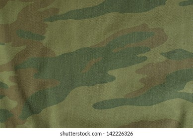 Russian camouflage fabric