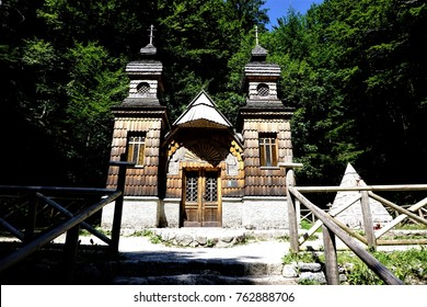 Russian chapel on the vrsic pass near Soca, Slovenia