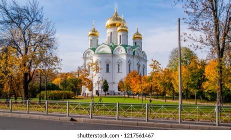 Russian church at atumn