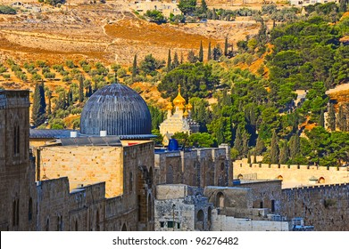 Russian Church of Saint  Mary Magdalene on the Mount of Olives in Jerusalem