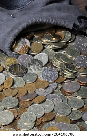 Russian Coins Taken Studio Artificial Light Stock Photo (Edit Now
