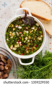 Russian cold kvass soup