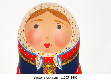 Russian doll face close-up