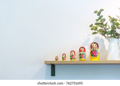 russian doll on shelf
