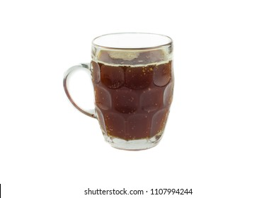 Russian drink - kvass, on a white isolated background