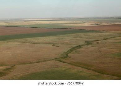 Russian fields in the steppe