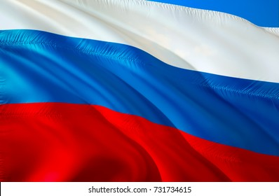 Russian flag background. Russian news today concept. From russia with love concept. Russia 3D Waving flag background design. Red, white and blue flag 3D ribbon vector pattern