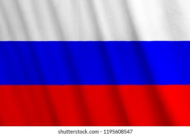 Russian Flag, with a fabric texture